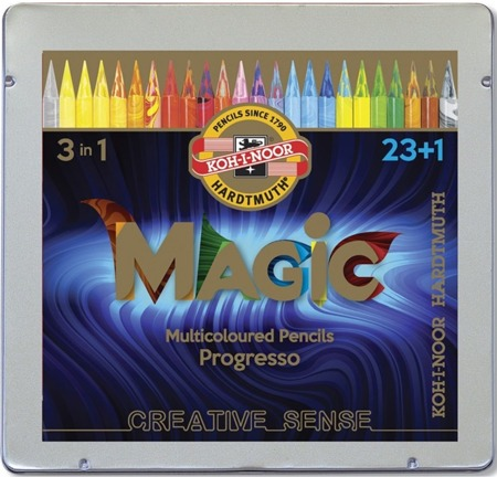 Koh-I-Noor Kredki Progresso Magic 24 Kolory 8744